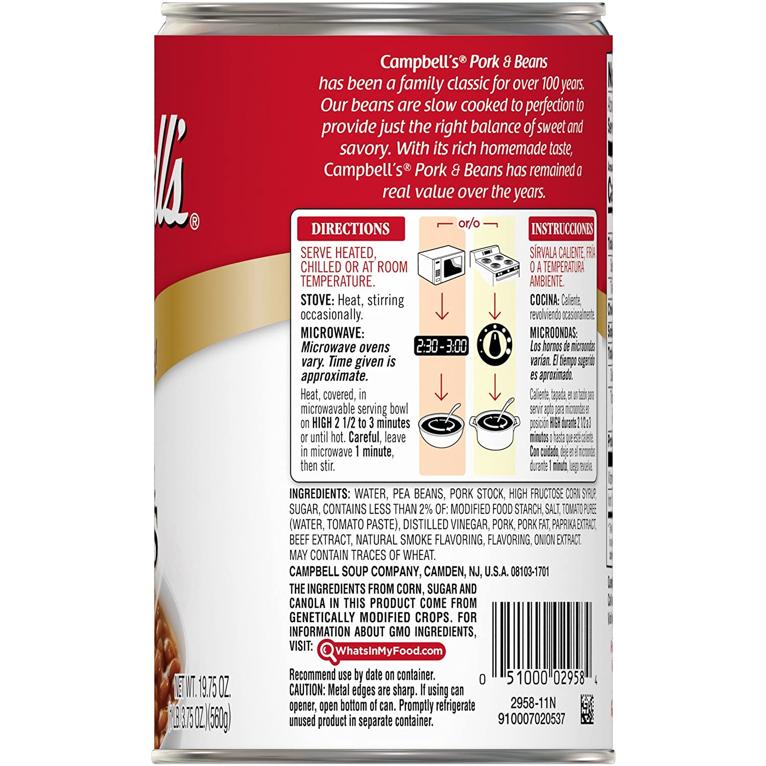 Campbells Pork and Beans, 19.75 oz. Can