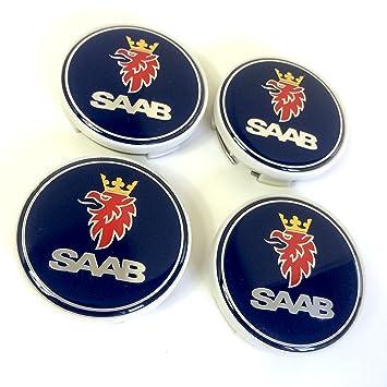 Set de 4 Saab llantas de aleación Centro Tapacubos (63 mm (62,5