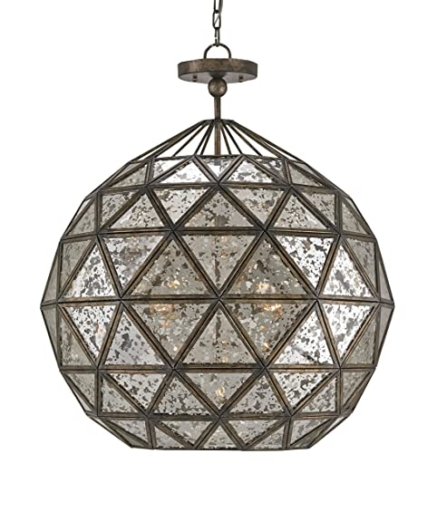 Currey and company 9436 buckminster six light chandelier pyrite currey and company 9436 buckminster six light chandelier pyrite bronzeraj mirror finish aloadofball Image collections