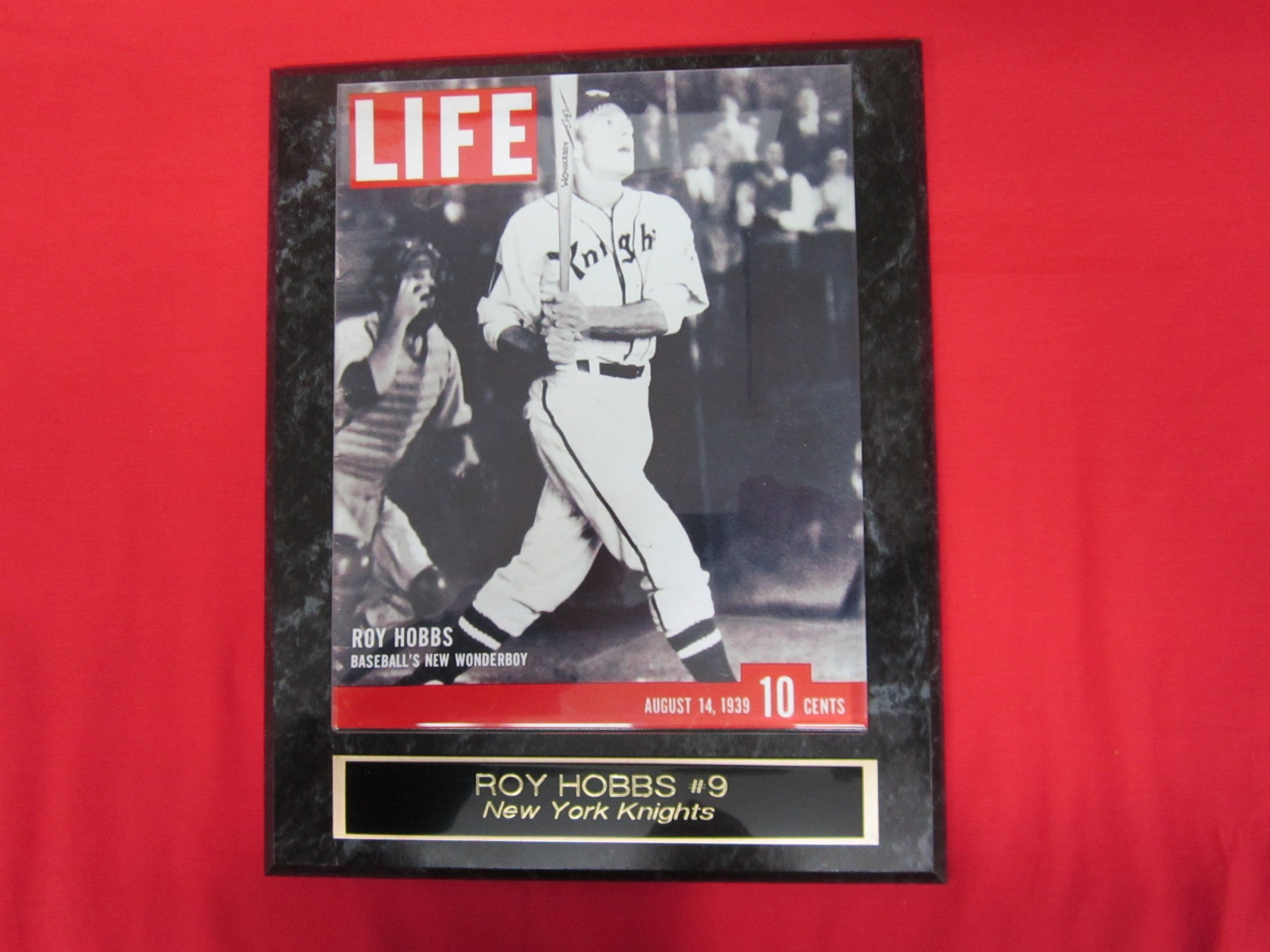 Roy Hobbs THE NATURAL Life Magazine Collector Plaque w/8x10 Photo