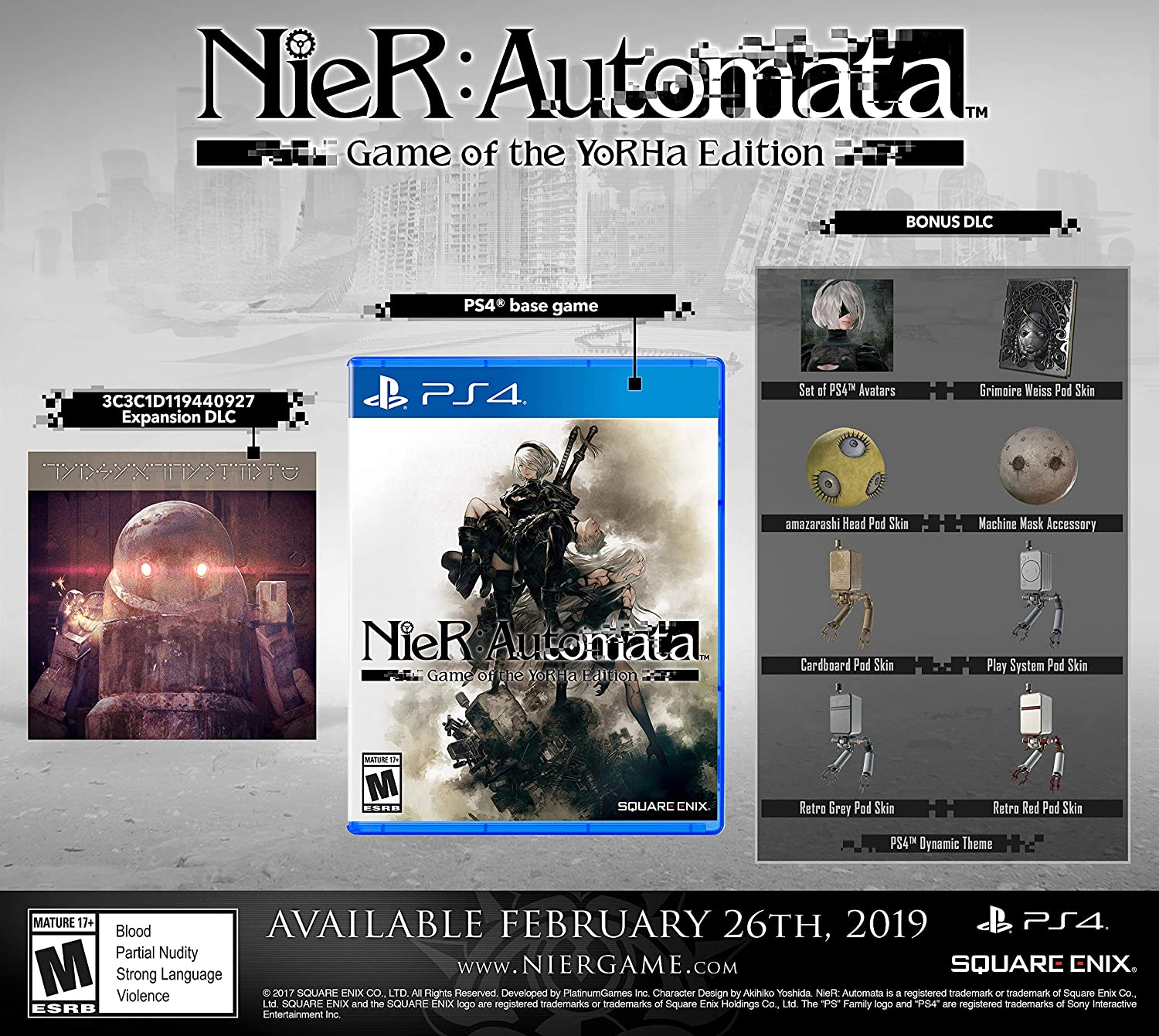 Amazon com: Nier: Automata - PS4 [Digital Code]: Video Games