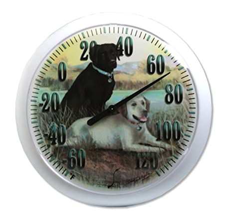 Springfield Labradors Low Profile Patio Thermometer (13.25 Inch)
