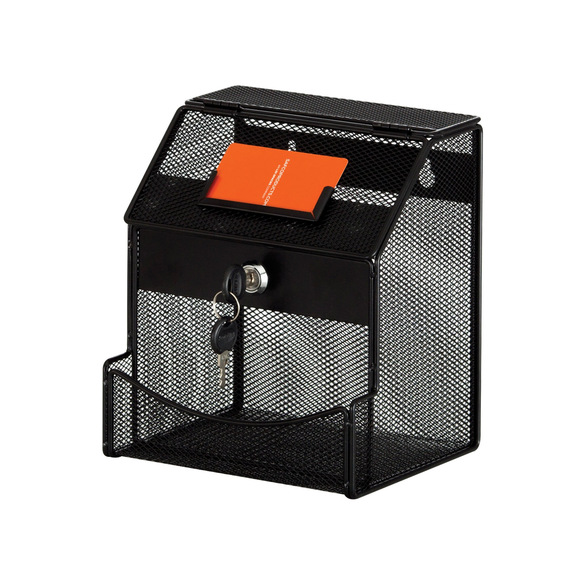 Safco Products 4238BL Onyx Mesh Collection Box, Black
