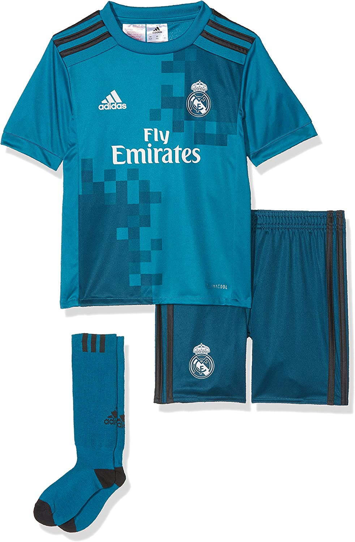 volatilidad Realmente tapa  Amazon.com : adidas Real Madrid Kids Third Kit 2017/18-2-3 Years : Sports &  Outdoors