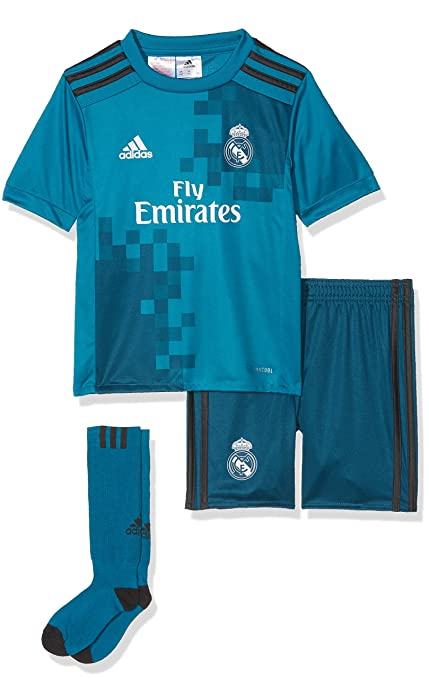 6d330a225 Amazon.com : adidas 2017-2018 Real Madrid Third SMU Mini Kit ...