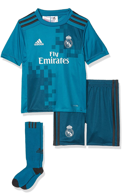 hot sale online 477ac 2a06e adidas Children's 3 Mini Real Madrid Football Kit