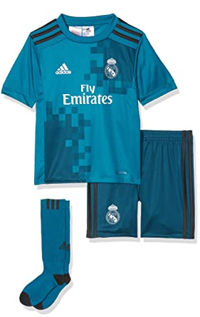 hot sale online d2e5f d59fa adidas Children's 3 Mini Real Madrid Football Kit