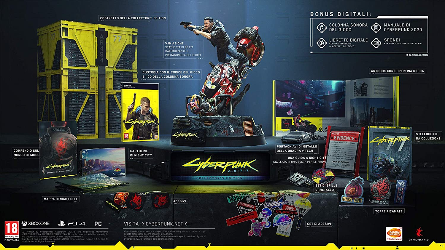 CYBERPUNK 2077 Collector's Edition + Steelbook - Collector's Limited - PC / Amazon.it