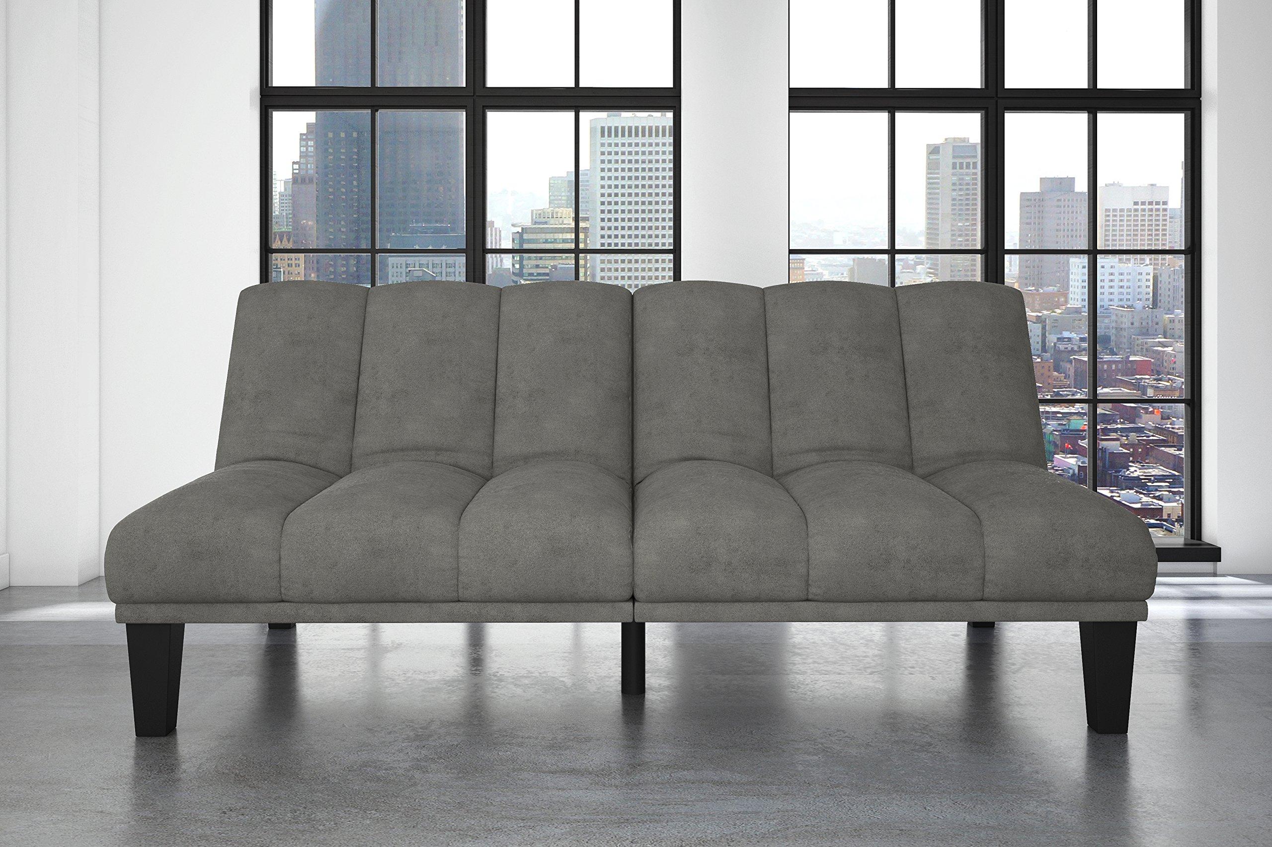 DHP Hamilton Estate Premium Sofa Futon Sleeper Comfortable Plush Upholstery, Rich Gray by DHP (Image #4)
