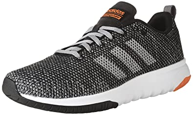 adidas NEO Mens CF Superflex Running Shoe Black/Grey Three/Solar Red 11.5 US