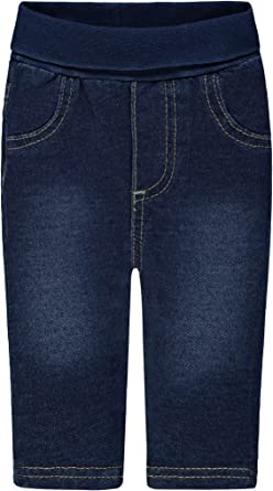 Steiff Hose Jeans Wirk m Hosenträgern SAILING TOUR dark blue denim 6913504-0012