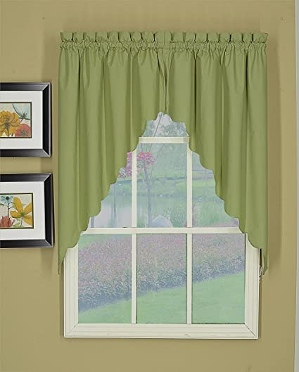 Today's Curtain CA2003K Orleans Swag Pair Tambour Scallop Edge Curtain, 60