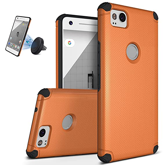 the best attitude b10a3 1452f Google Pixel 2 Case, Ultra Slim Shockproof Defender Cover Anti-Slip Hard  Back TPU Shell Intensive Protection Bumper Sleeve Case for Google Pixel 2,  ...