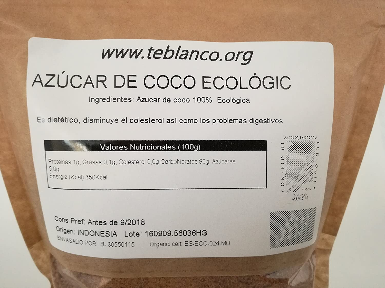 AZUCAR DE COCO ECOLÓGICO | CALIDAD PREMIUM 500g: Amazon.es ...