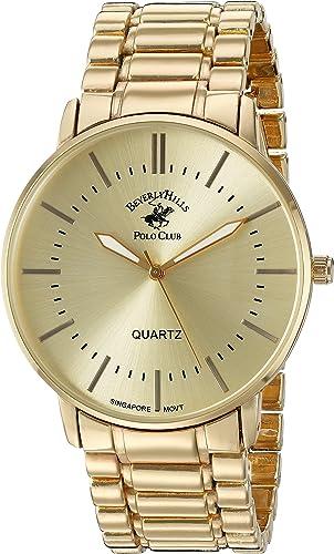Amazon Com Us Beverly Hills Polo Club Reloj De Cuarzo De Metal Y Aleación Para Hombre Color Dorado Modelo 53425 Watches