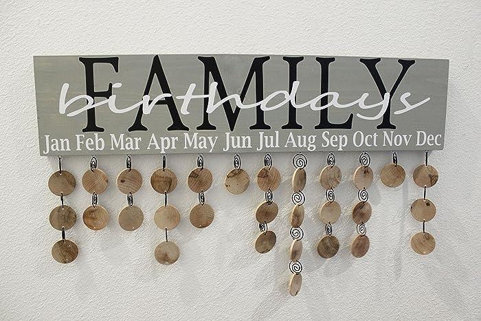 Family birthday calendar kit