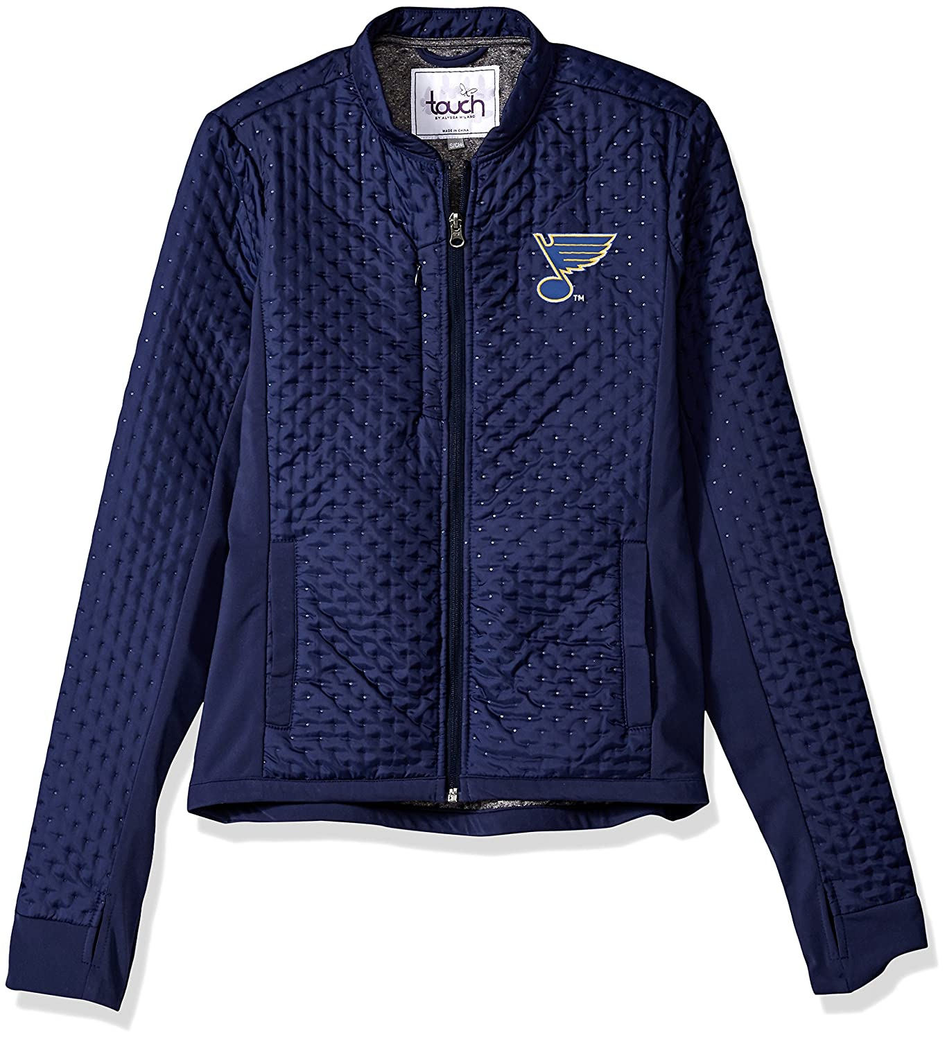 Navy Large Touch by Alyssa Milano Adult Women Lead Off Jacket