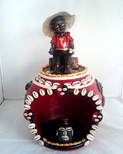 14 Inch House of Elegua Casa Statue Santeria Siete Potencias African God Powers