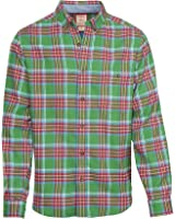 Woolrich Men's Trout Run Flannel Shirt In Dogfish Plaid