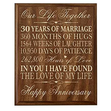 30th Anniversary Gift Ideas Couple Parents 30 Year Gifts For Him Her Wall Plaque