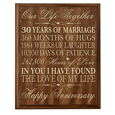 Amazon.com: 30th Anniversary Gift ideas Couple Parents 30 year ...