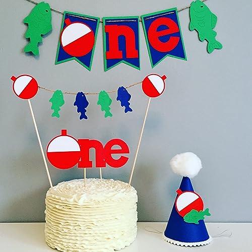 Amazoncom The Big one first birthday Fishing cake smash