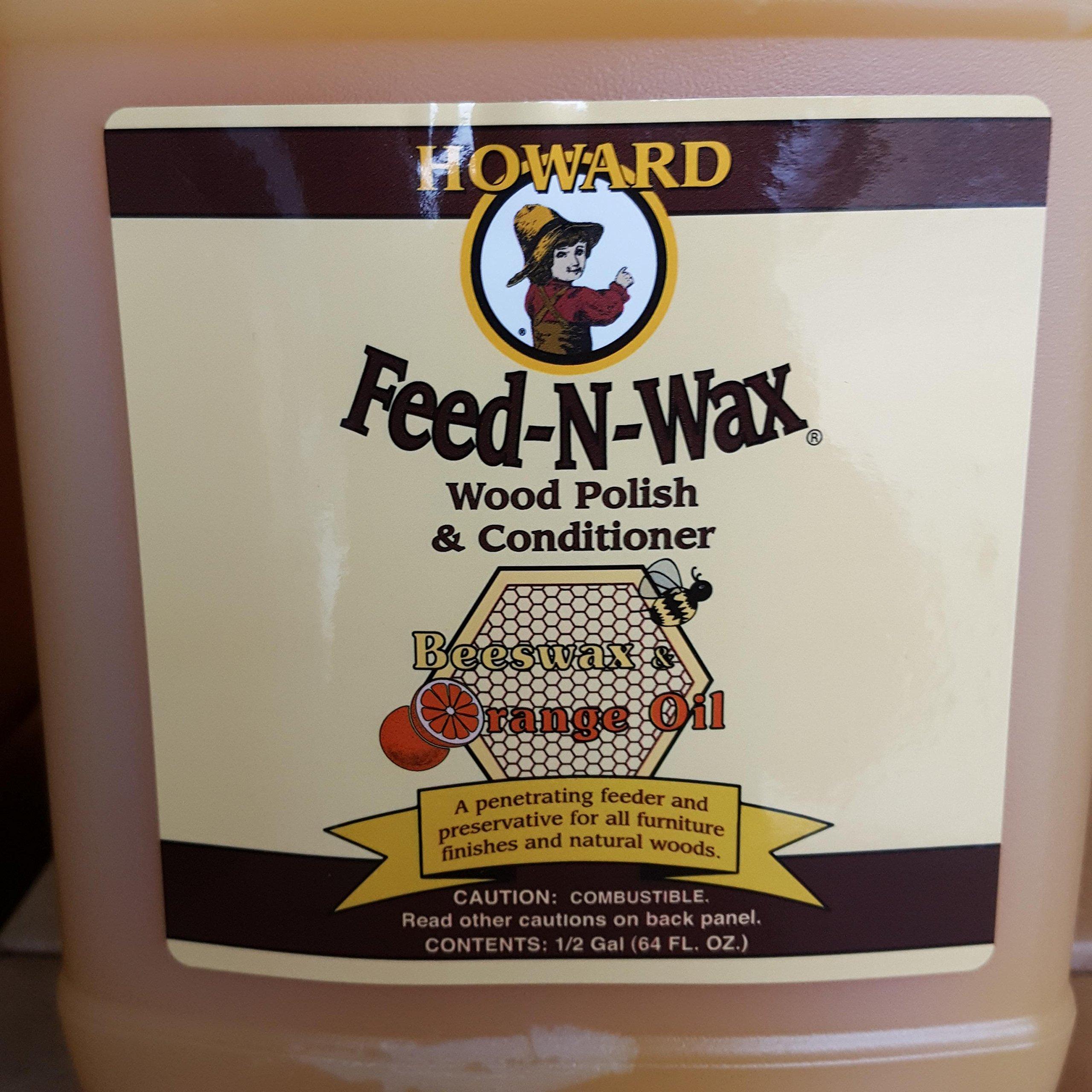 Howard Feed-N-Wax Restorative Wood Polish and Conditioner 64oz 1/2 Gallon, Polish Wood Floors, Antique Furniture Restoration, Wood Furniture by Howard Products (Image #9)
