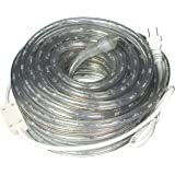 """50ft 120V Cool White Super Bright LED Rope Light, Direct-Lighting, Heavy Duty PVC Clear Rope Lights Tube, 1/2"""", Expandable to 200 Ft, Commercial Electric Grade, 2 Wire, Exterior and Interior Rope Lighting, GRL-50-CW, [UL]"""