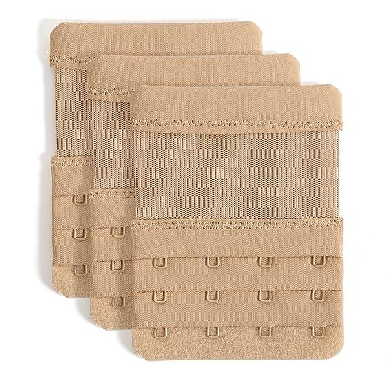 d2ef14ae4e Bra Extender 4 Hooks Women Bra Strap Extenders Pack of 3 Soft Comfortable  at Amazon Women s Clothing store