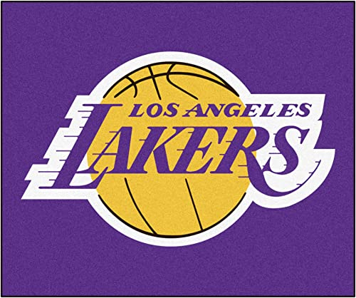 FANMATS 11332 NBA – Los Angeles Lakers Tailgater Rug, Team Color, 59.5 x71