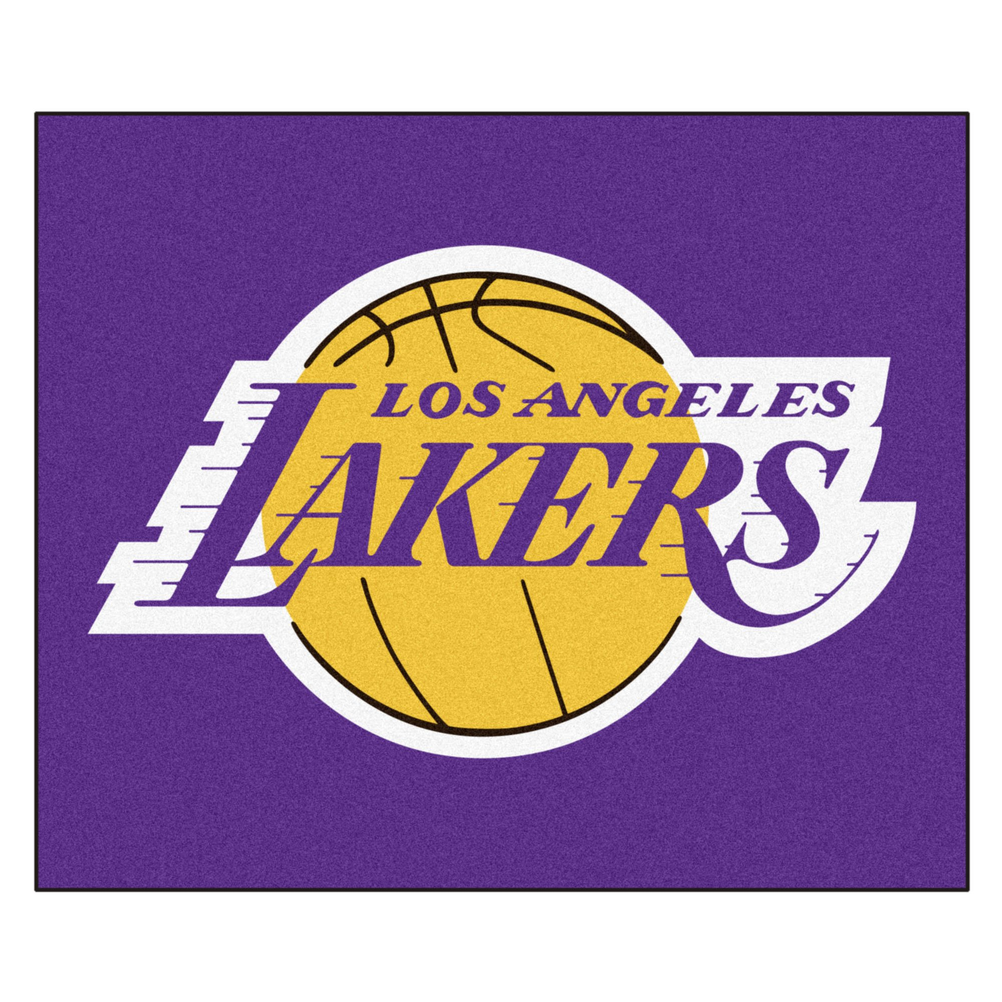 FANMATS 11332 NBA - Los Angeles Lakers Tailgater Rug , Team Color, 59.5''x71'' by Fanmats