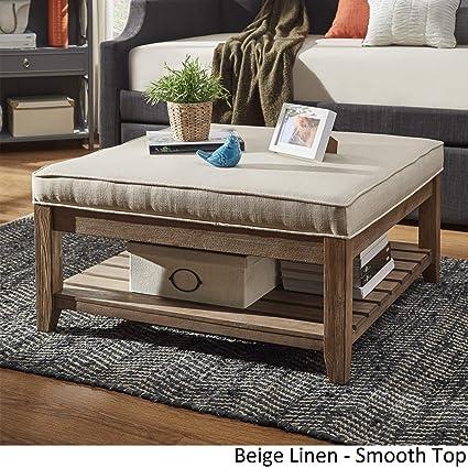 Large Storage Ottoman Coffee Table.Amazon Com Inspire Q Lennon Pine Planked Storage Ottoman Coffee