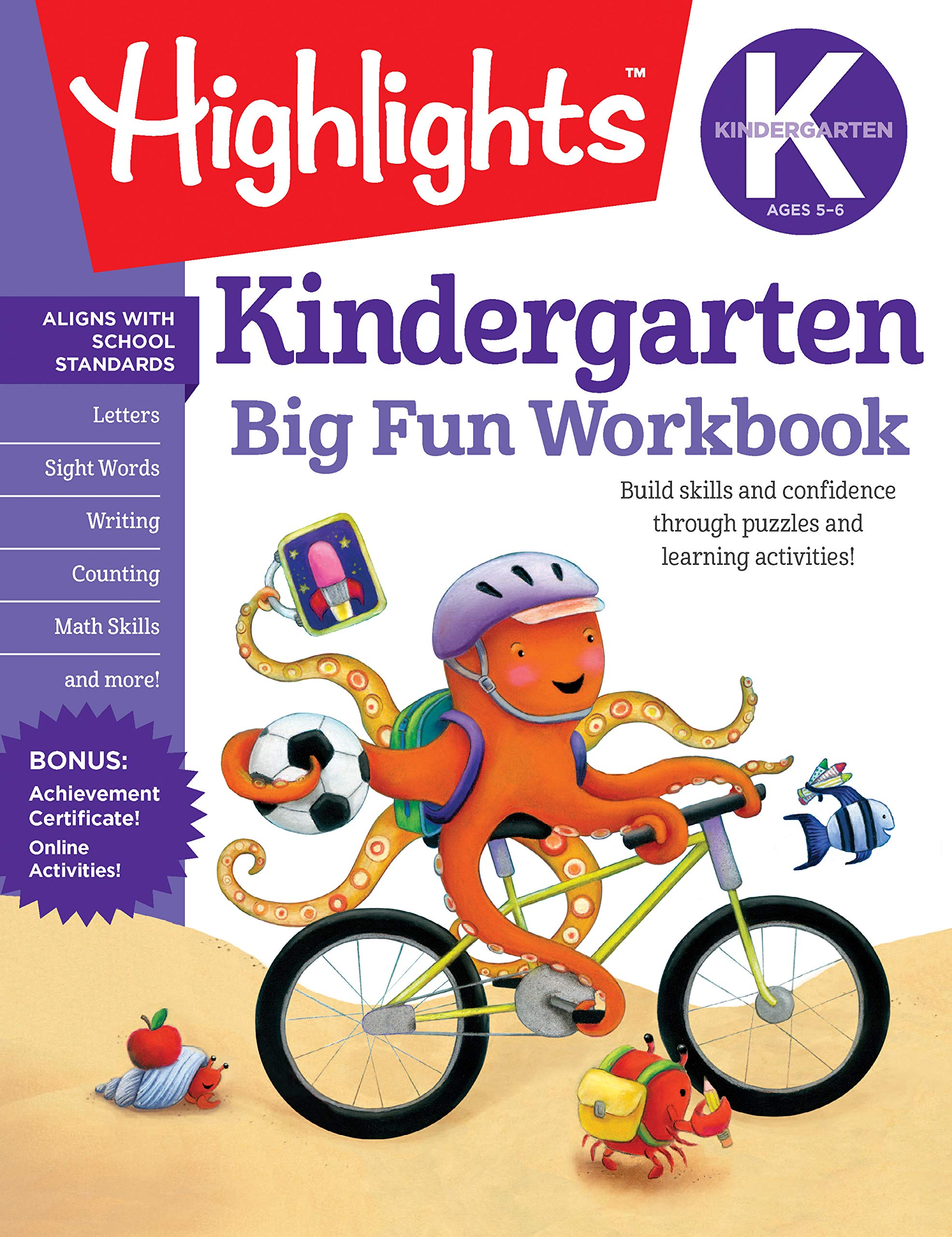 image relating to Home and Family Christmas Workbook named : The Significant Exciting Kindergarten Workbook (Highlights