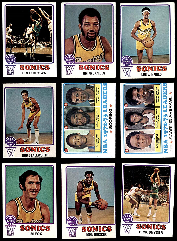 1973-74 Topps Seattle SuperSonics Team Set Seattle Supersonics (Baseball Set) Dean's Cards 3.5 - VG+ Supersonics 91MJw5Z1t7L