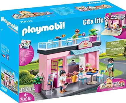 Amazon.com: PM Playmobil 70015 City Life My Favourite Cafe ...