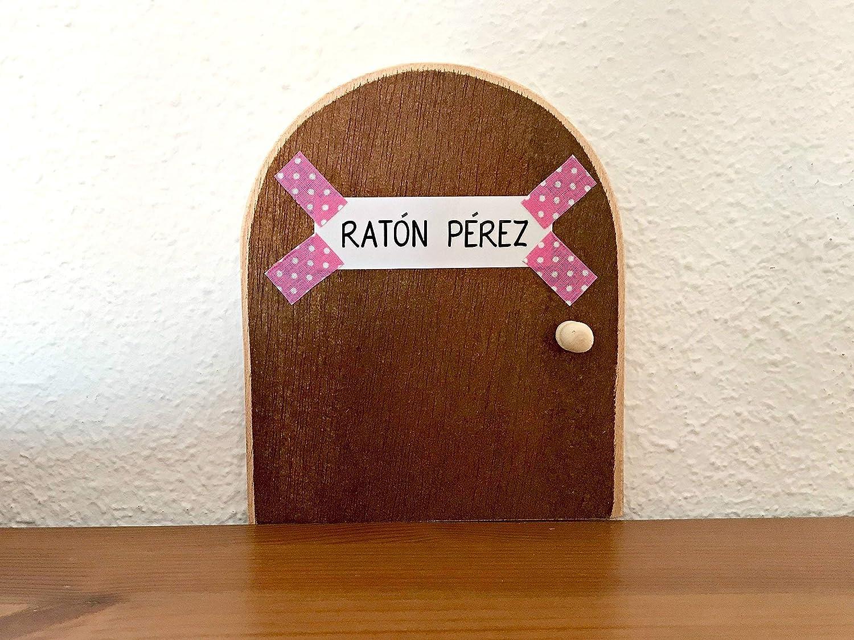 Ratoncito P/érez: Puerta m/ágica Rosa con Escalera Rosa Recipiente para Dientes y Diario de mis Dientes 1 Unidad.