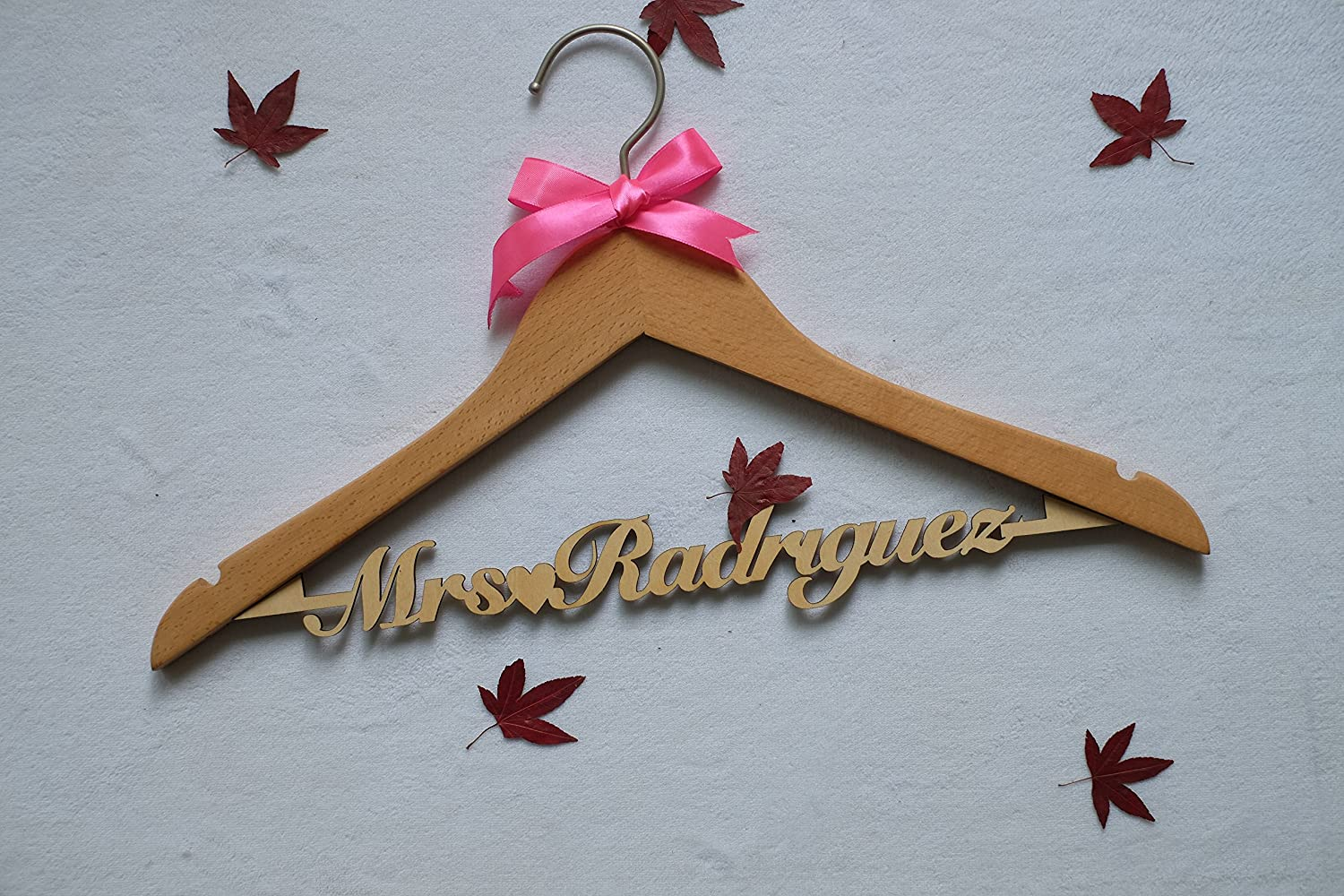 Rustic Wooden Wedding Hangers Mrs Wedding Dress Hanger Personalised ...