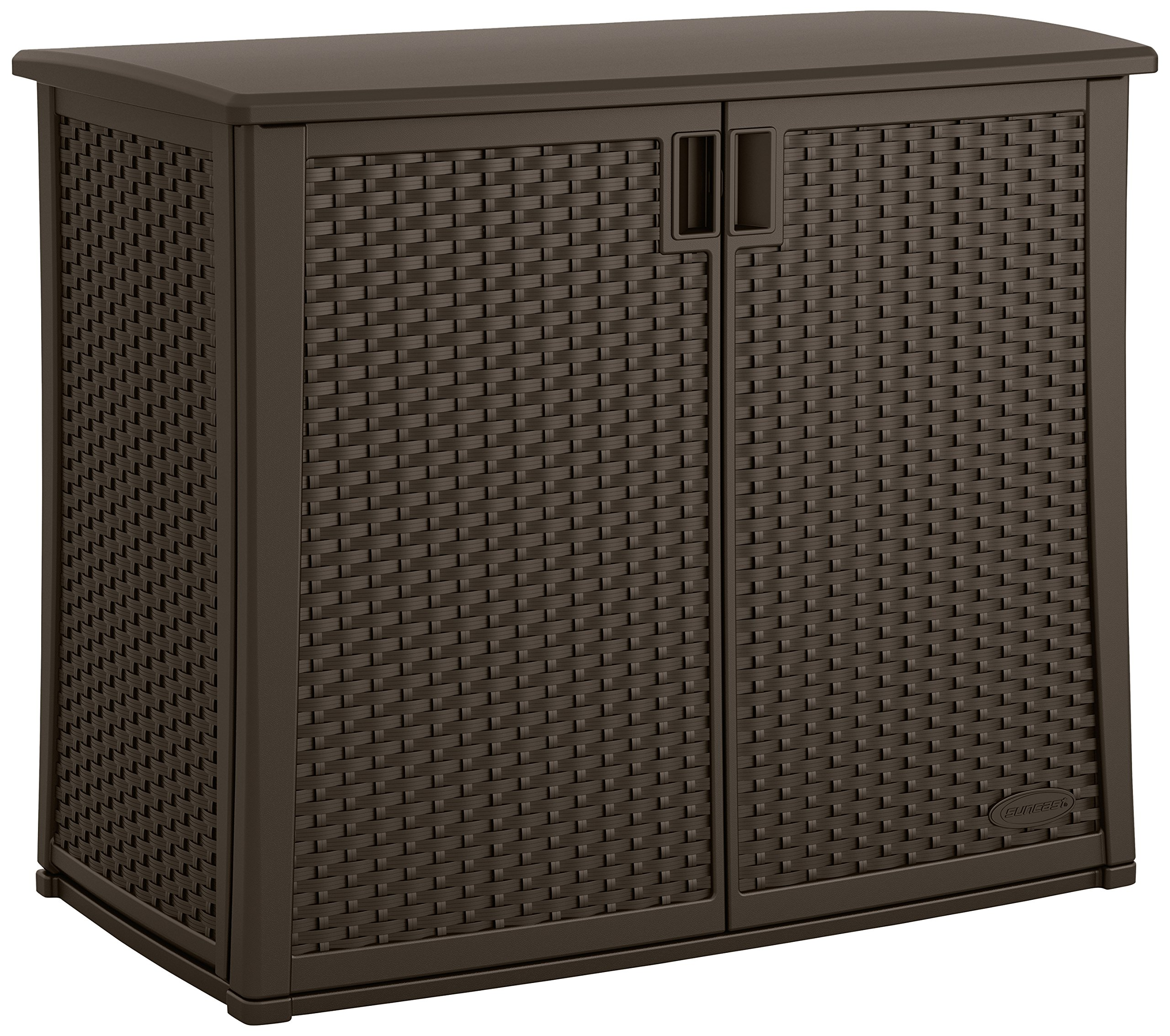Grill Storage. Suncast Elements Outdoor 40 Inch Wide Cabinet