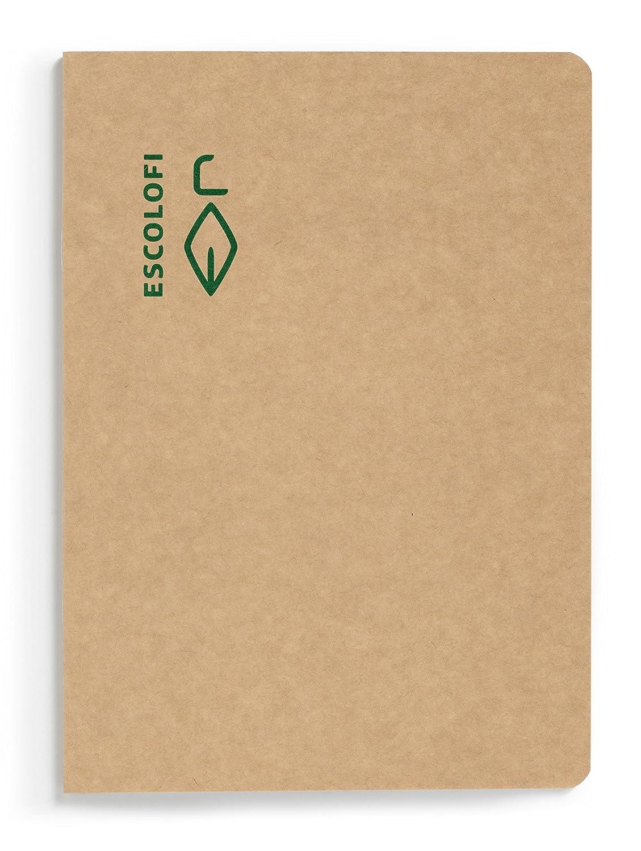 ESCOLOFI Pack de 10 Cahiers piqu/é Recycl/é /écologique 50 feuilles 80 gr//m2 Din A4 grille 5 mm