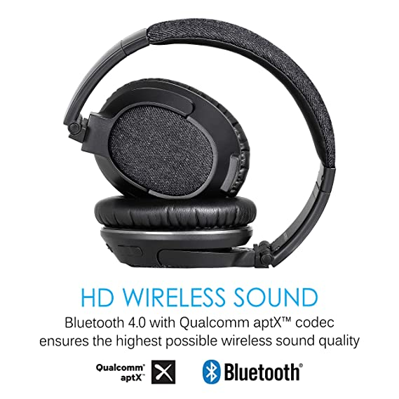 MEE audio Matrix3 Bluetooth with aptX/AAC Wireless + Wired High Fidelity  Headphones with Headset Black (HP-AF68-DN-MEE)