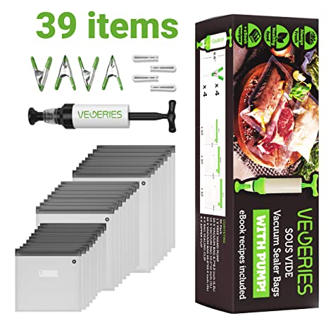 Amazon.com: Sous Vide Bolsas de almacenamiento de alimentos ...