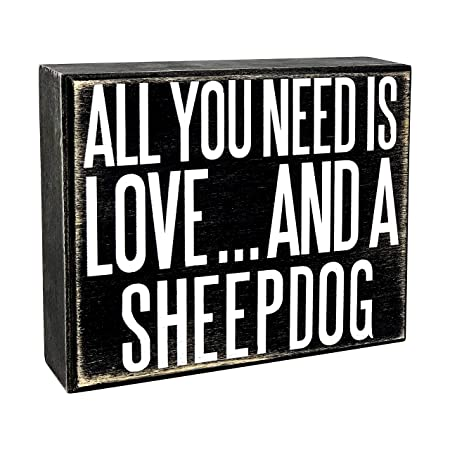 JennyGems - All You Need is Love and a Sheepdog - Cartel de ...