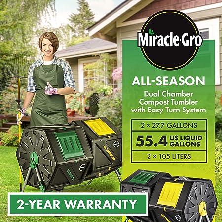 Miracle Grow - Recipiente-secador para compuesto de doble ...