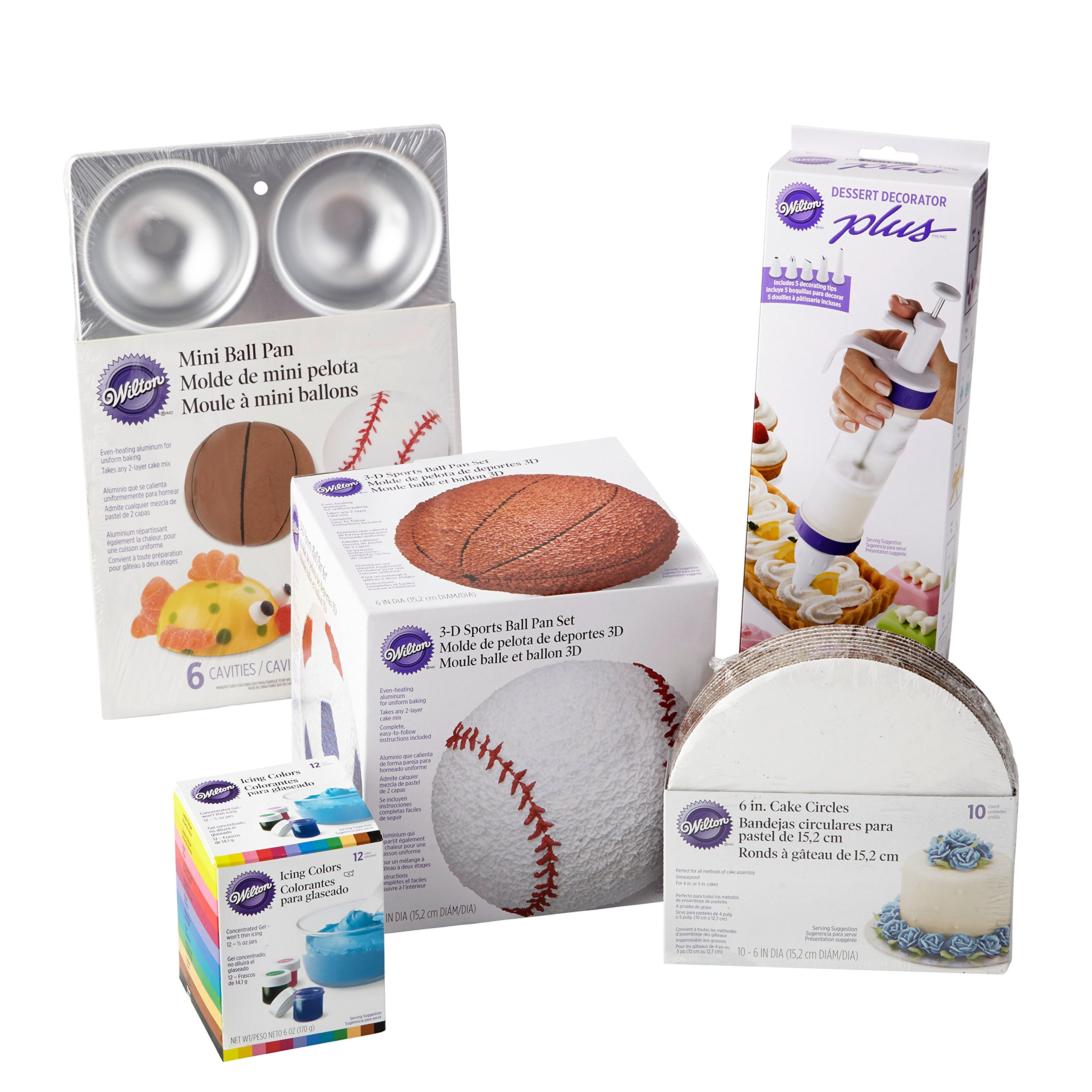 Wilton Sports Ball Cake Pan Set, 16-Piece by Wilton
