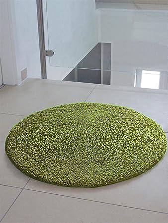 Hochflor teppich  benuta Shaggy Hochflor Teppich Swirls Grün ø 120 cm rund ...