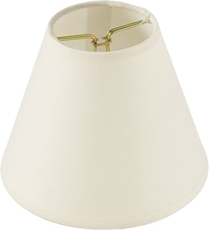 Darice Pleated Cloth Covered Lampshade 2.5 X 4 X 5 Inches Ivory