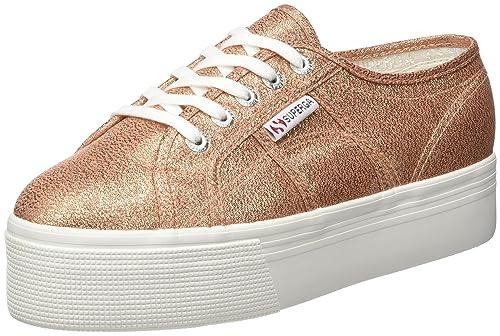 Superga Unisex Adults 2790 Lamew Platform Sneakers, Pink (Rose Gold), 2.5 UK