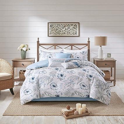 Amazon.com: Tropical Comforter Set Cal King Size - Blue ...