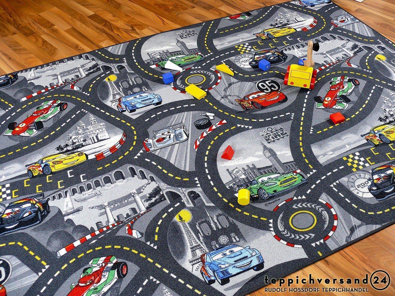 Snapstyle Spiel Kinderteppich Disney Cars Grau in 24 Größen
