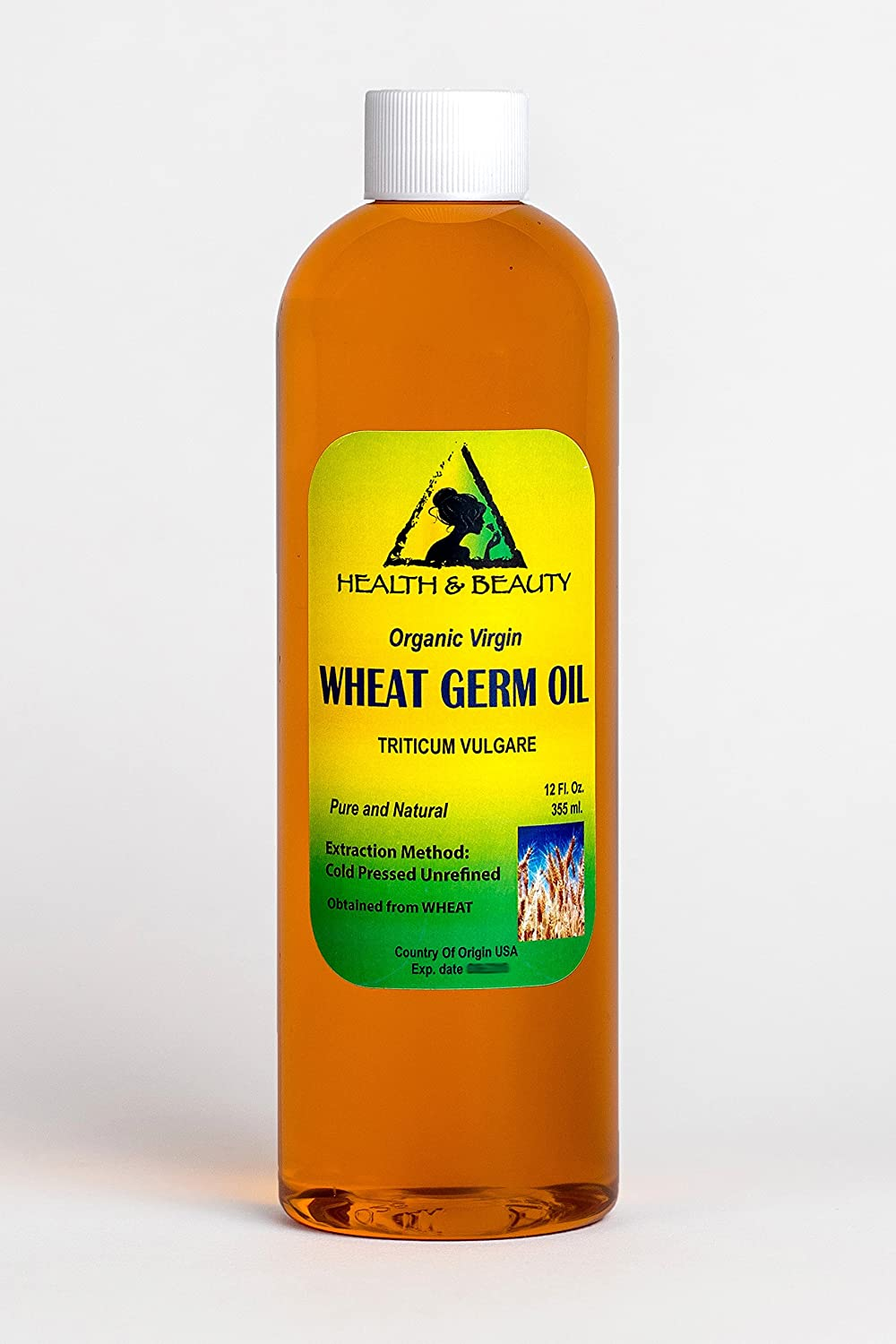 Wheat Germ Oil Unrefined Organic Carrier Virgin Cold Pressed Pure 24 oz, 710 ml H&B OILS CENTER Co.